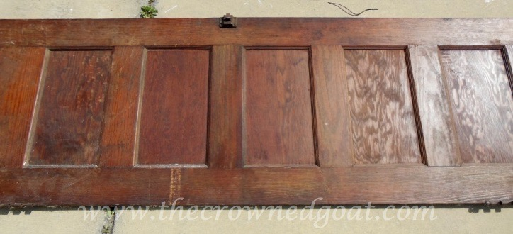 041615-1 How to Create a Console Table from an Old Door DIY Painted Furniture
