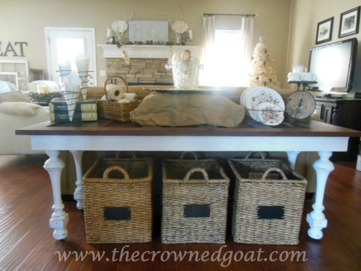 041615-11 How to Create a Console Table from an Old Door DIY Painted Furniture