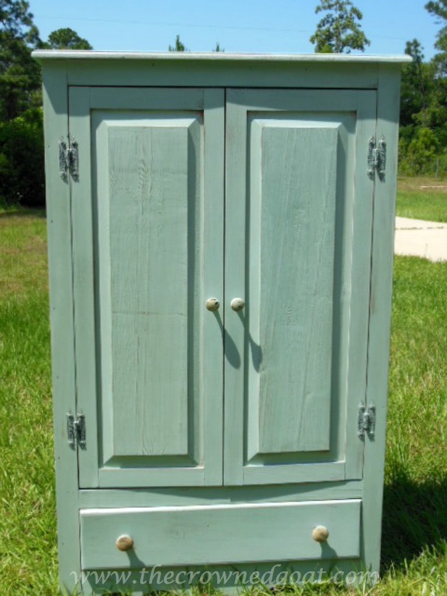052115-4 Annie Sloan Chalk Duck Egg Painted Cabinet Painted Furniture