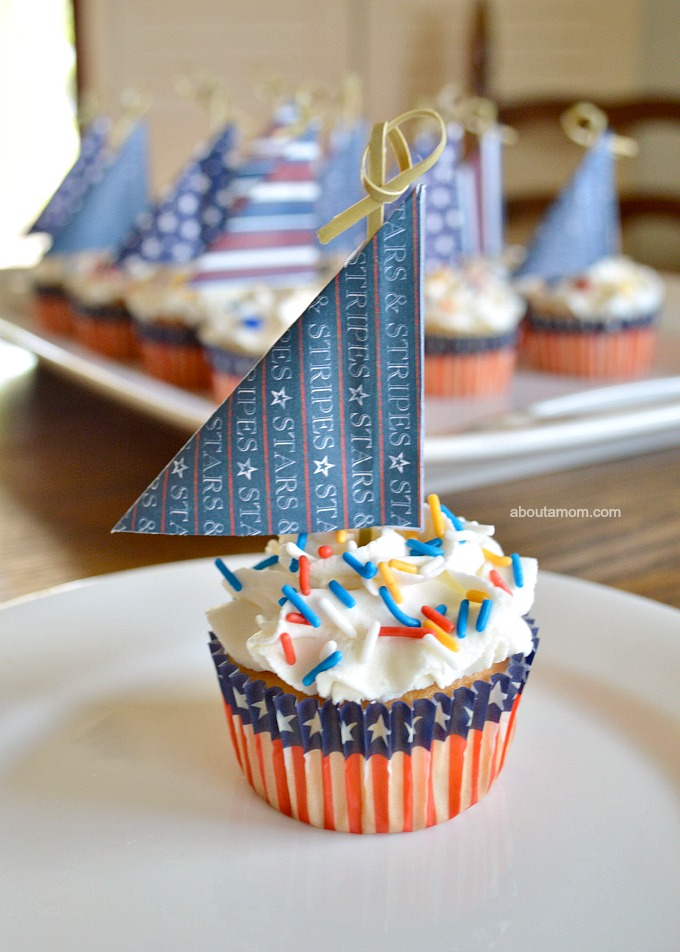 About-A-Mom-Sailboat-Cupcakes Something to Talk About Link Party #19 LinkParty