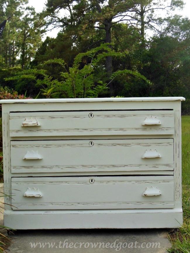 060915-6 Three Drawer Dresser Makeover Painted Furniture