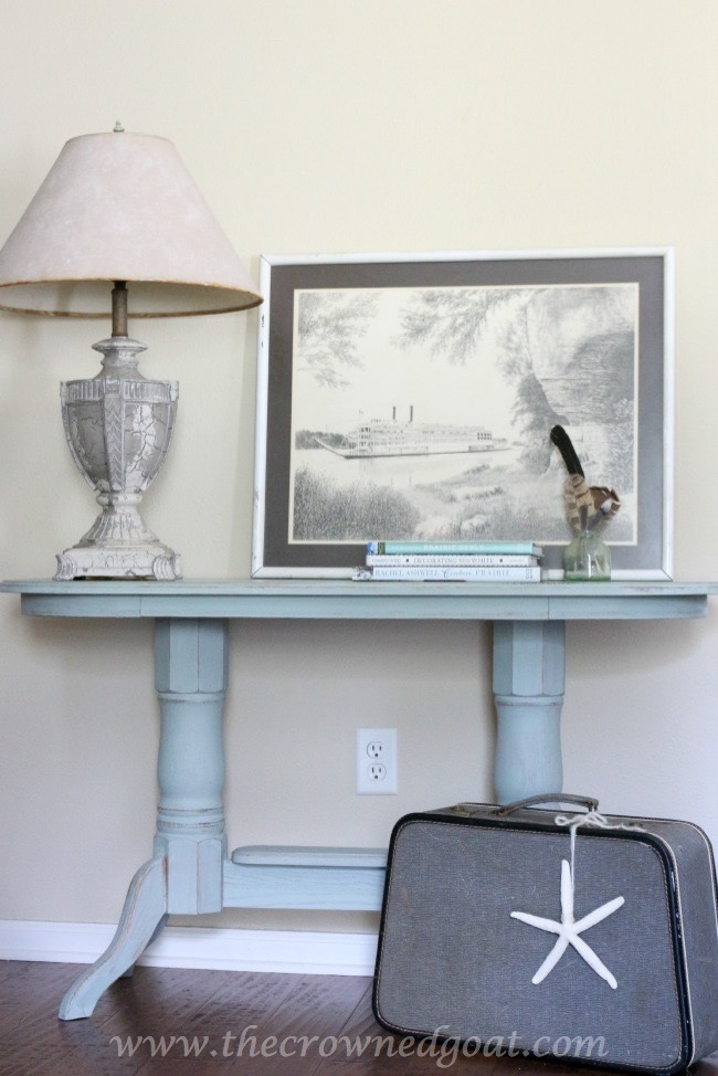 Duck Egg Painted Entry Table - The Crowned Goat - 061015-9