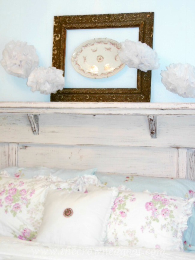 How to Make a Headboard from an Old Mantel - The Crowned Goat - 062515-12