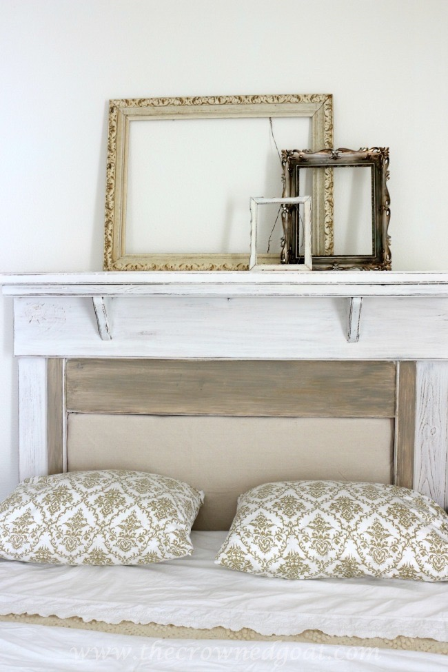 How to Make a Headboard from an Old Mantel - The Crowned Goat - 062515-13