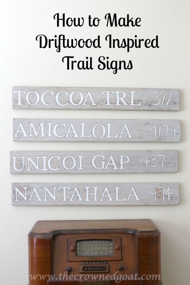 072915-13 How to Make a Driftwood Inspired Trail Sign - The Crowned Goat Pinnable