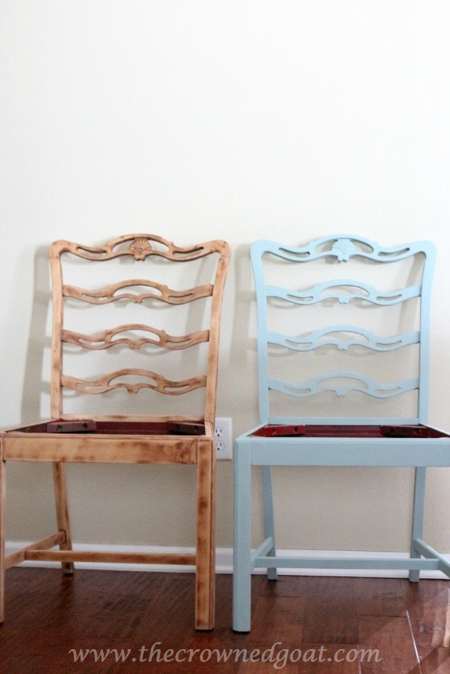 Coastal-Inspired-Chair-Makeover-The-Crowned-Goat-070715-2 Coastal Inspired Chair Makeover DIY Painted Furniture
