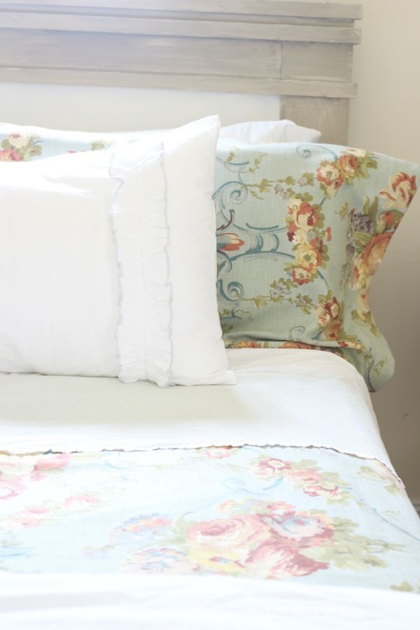 Annie Sloan French Linen and Pure White Painted Headboard