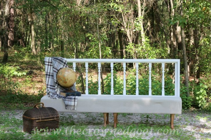 Americana-Decor-Chalky-Finish-Paint-in-Everlasting-082615-16 Americana DECOR Chalky Finish Painted Bench in Everlasting DIY Painted Furniture