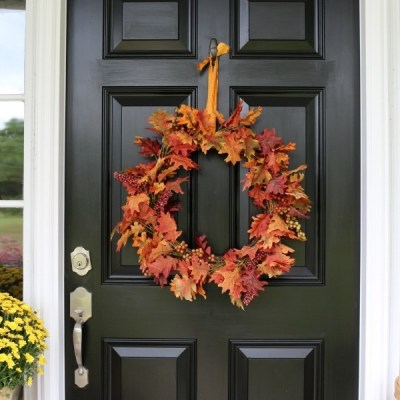 Fall Inspired Front Door Décor