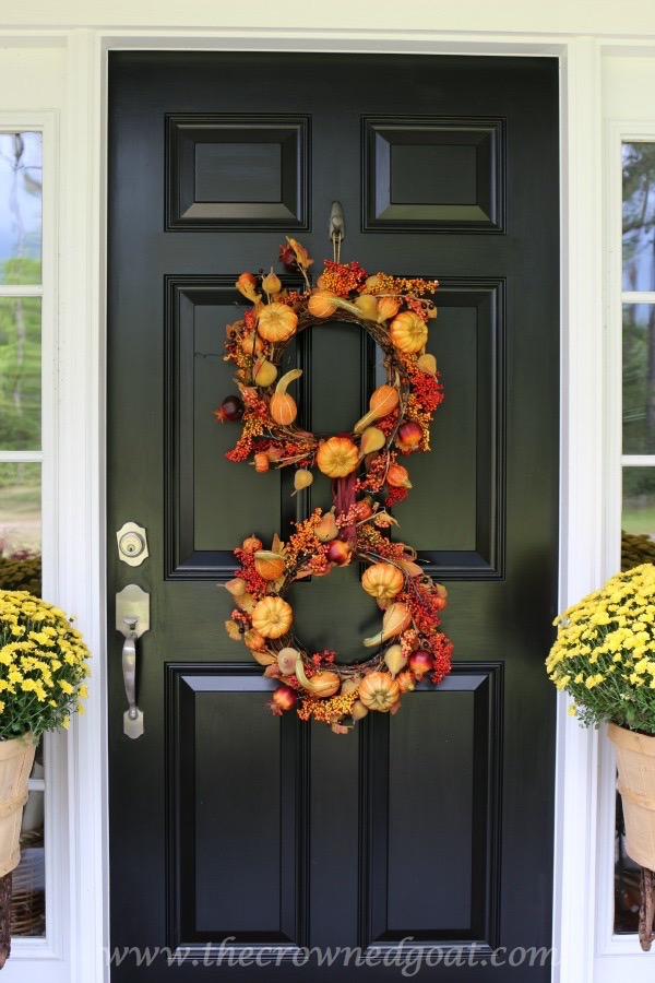 101415-2 Fall Inspired Front Door Décor Fall Holidays