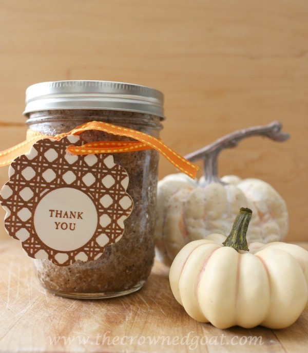 Easy Pumpkin Spice Latte Sugar Scrub - The Crowned Goat