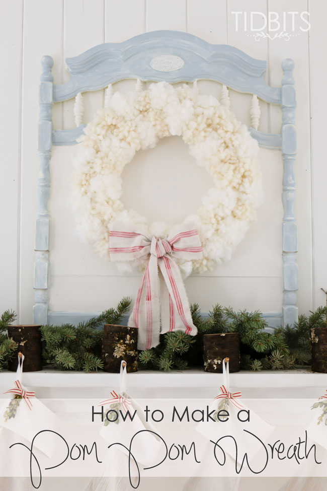 Pom-Pom-Wreath-181 Something To Talk About Link Party 45 LinkParty