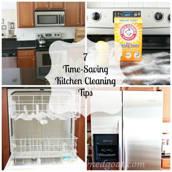 012716-8 7 Time Saving Kitchen Cleaning Tips Organization