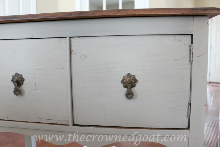 022416-11 French Linen Painted Nightstand Painted Furniture