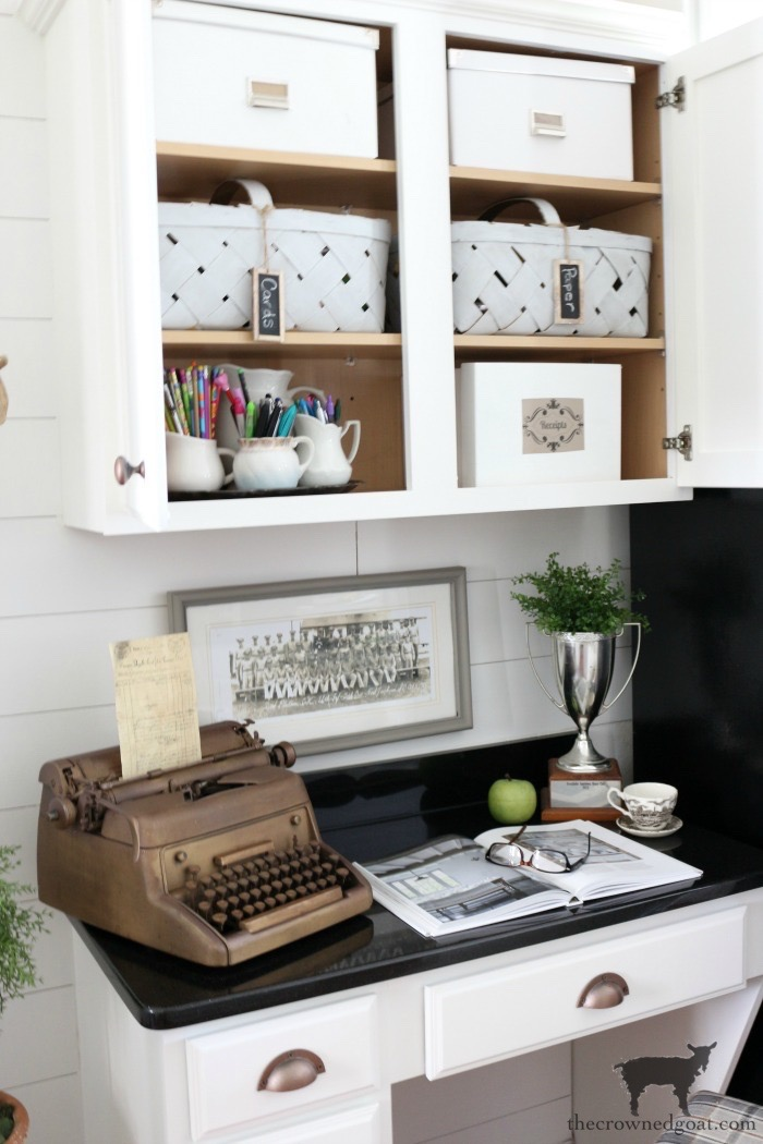 How-to-Organize-a-Kitchen-Desk-The-Crowned-Goat-19 How to Organize a Kitchen Desk Organization