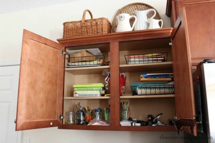 How-to-Organize-a-Kitchen-Desk-The-Crowned-Goat-2 How to Organize a Kitchen Desk Organization