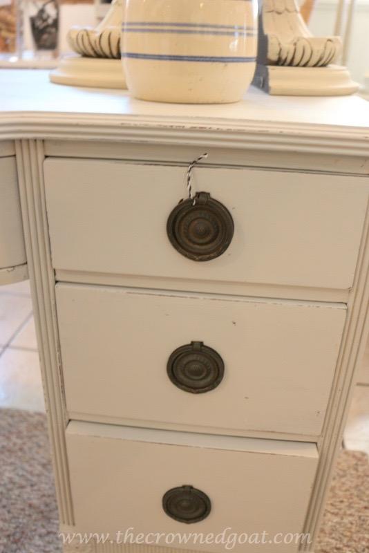 040416-7 ASCP Custom Gray Desk Painted Furniture Vendor Spaces