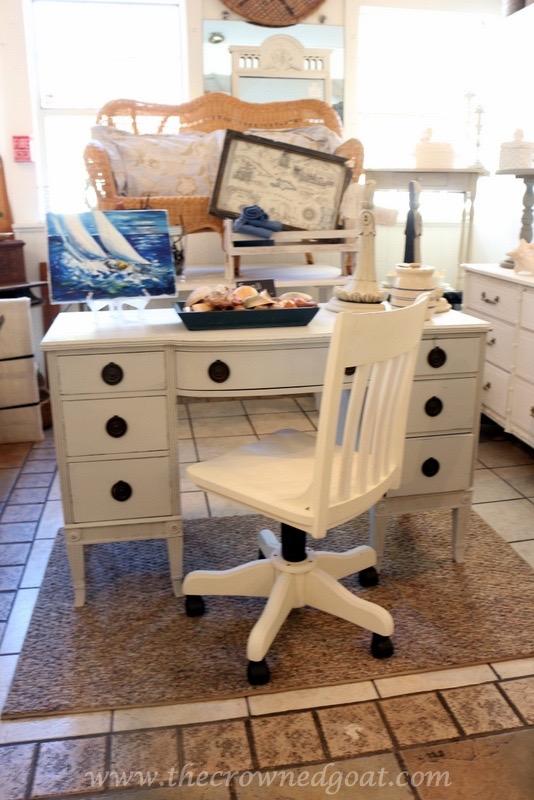 040416-8 ASCP Custom Gray Desk Painted Furniture Vendor Spaces