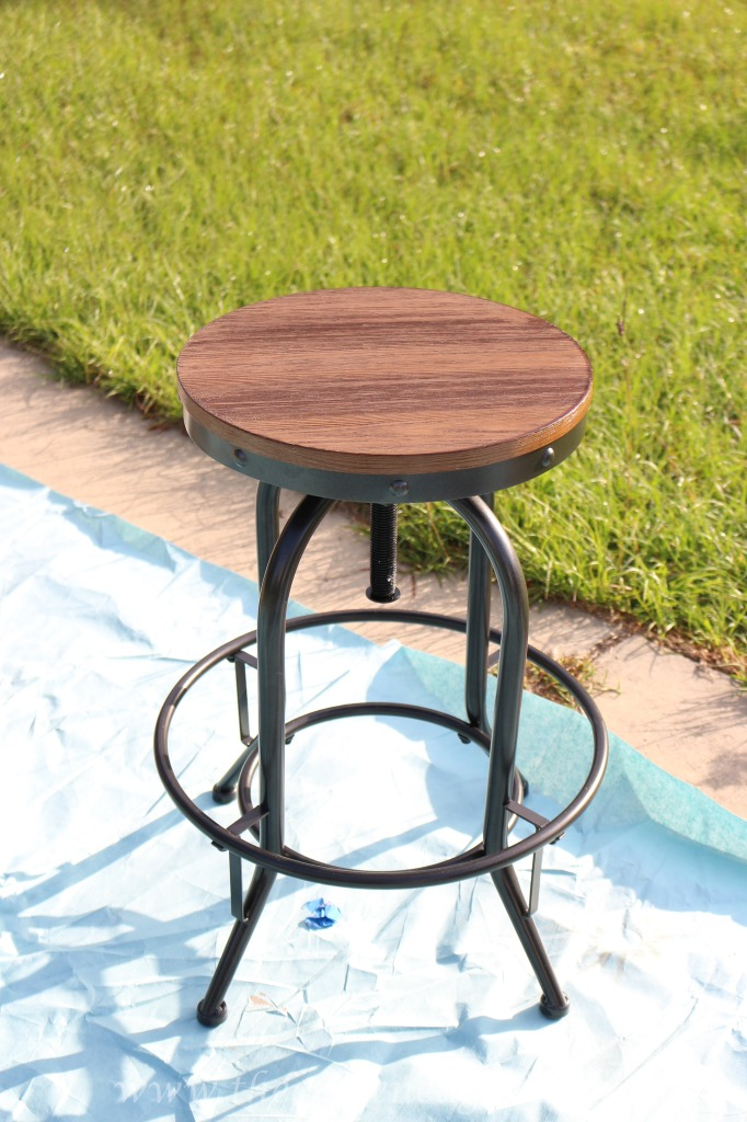 050316-2-682x1024 DIY Chalk Painted Office Chair and Weathered Barstools Uncategorized