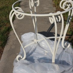 Grey Painted Chairs Best Stadium For Bleachers Using Chalk Paint On Metal Patio Furniture – The Crowned Goat