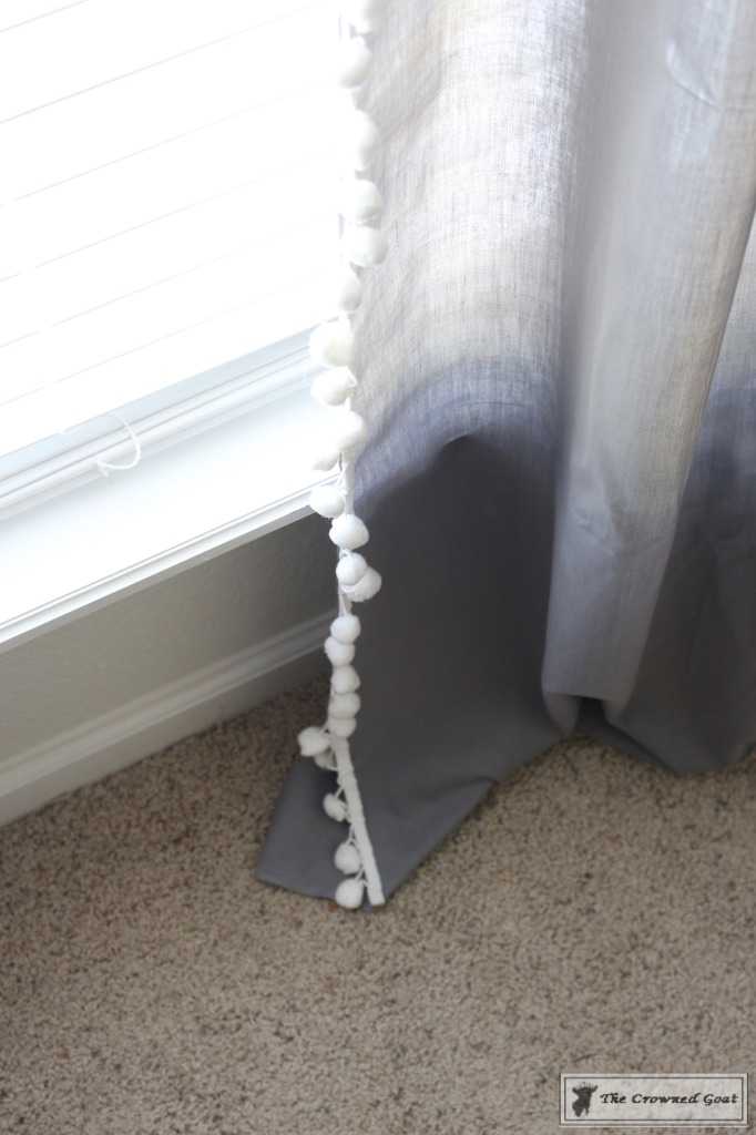 060816-11-682x1024 No Sew Pom-Pom Curtains Decorating DIY