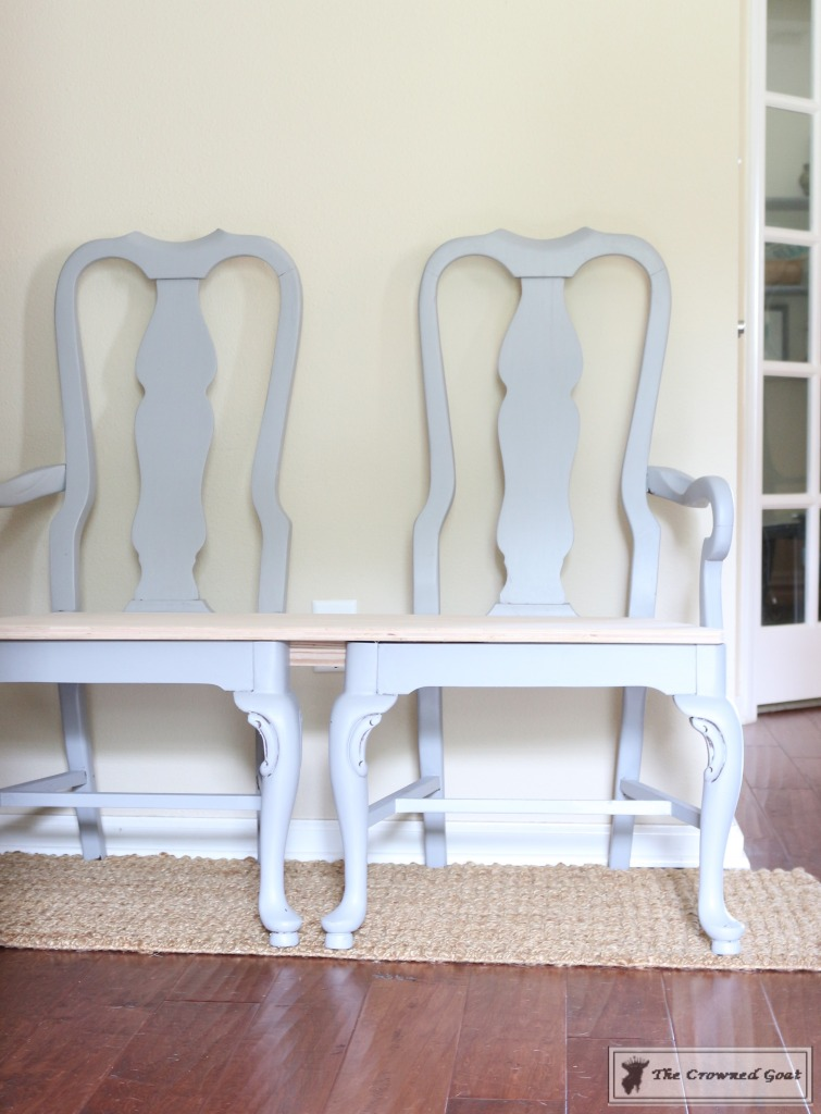 062416-12-755x1024 Creating a Bench from Dining Chairs DIY Painted Furniture