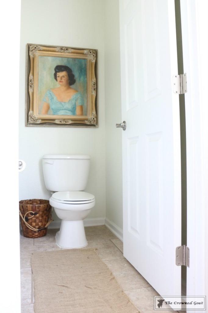 Budget-Friendly-Bathroom-Makeover-12-682x1024 Budget Friendly Bathroom Makeover Reveal  Decorating DIY Painted Furniture