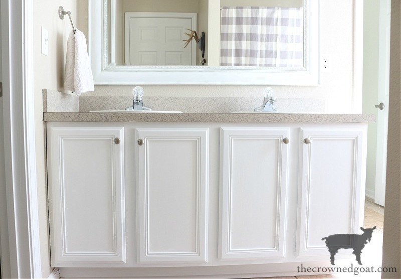 How-to-Paiint-a-Bathroom-Cabinet-with-Milk-Paint-The-Crowned-Goat-21 How to Paint a Bathroom Cabinet with Milk Paint DIY One_Room_Challenge Painted Furniture