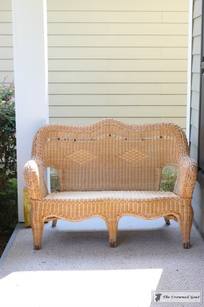 Painting Wicker Patio Furniture - 1