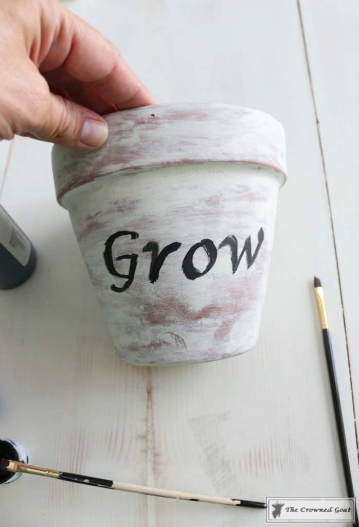 White Washing Terra Cotta Pots with Chalk Paint-13