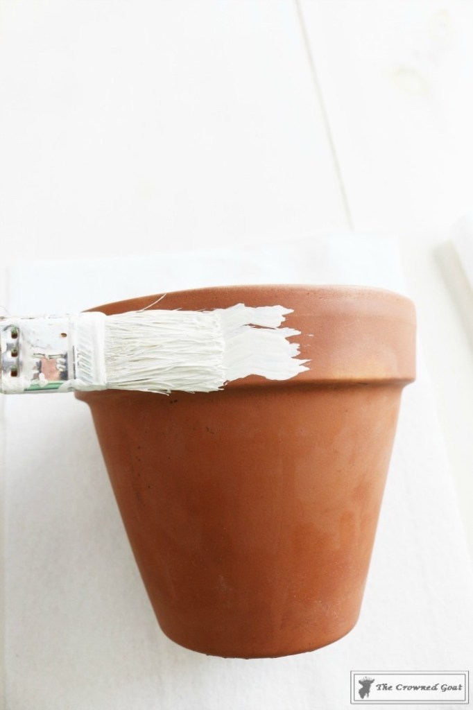 White Washing Terra Cotta Pots with Chalk Paint-3