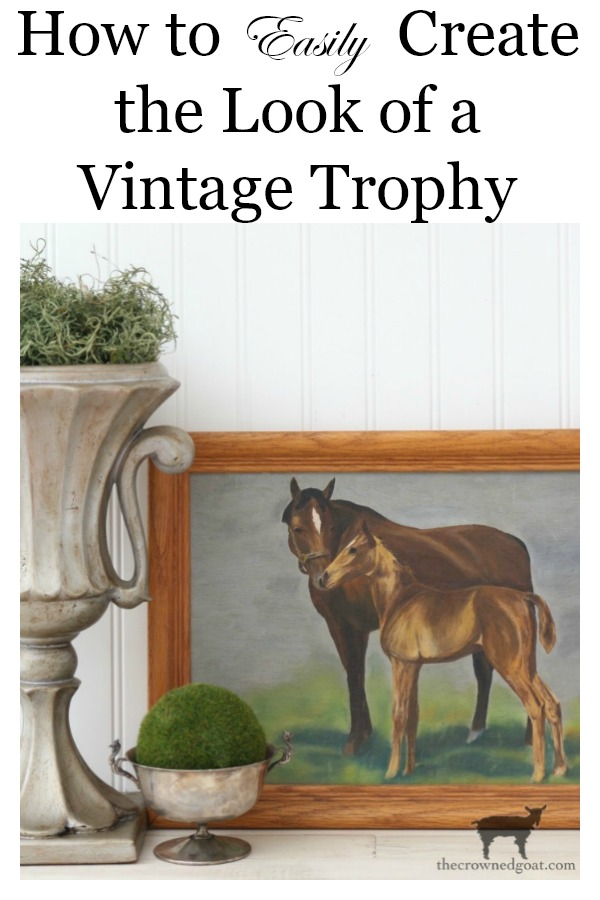 How-to-Create-the-Look-of-a-Vintage-Trophy-The-Crowned-Goat How to Create a Vintage Trophy Finish Decorating DIY