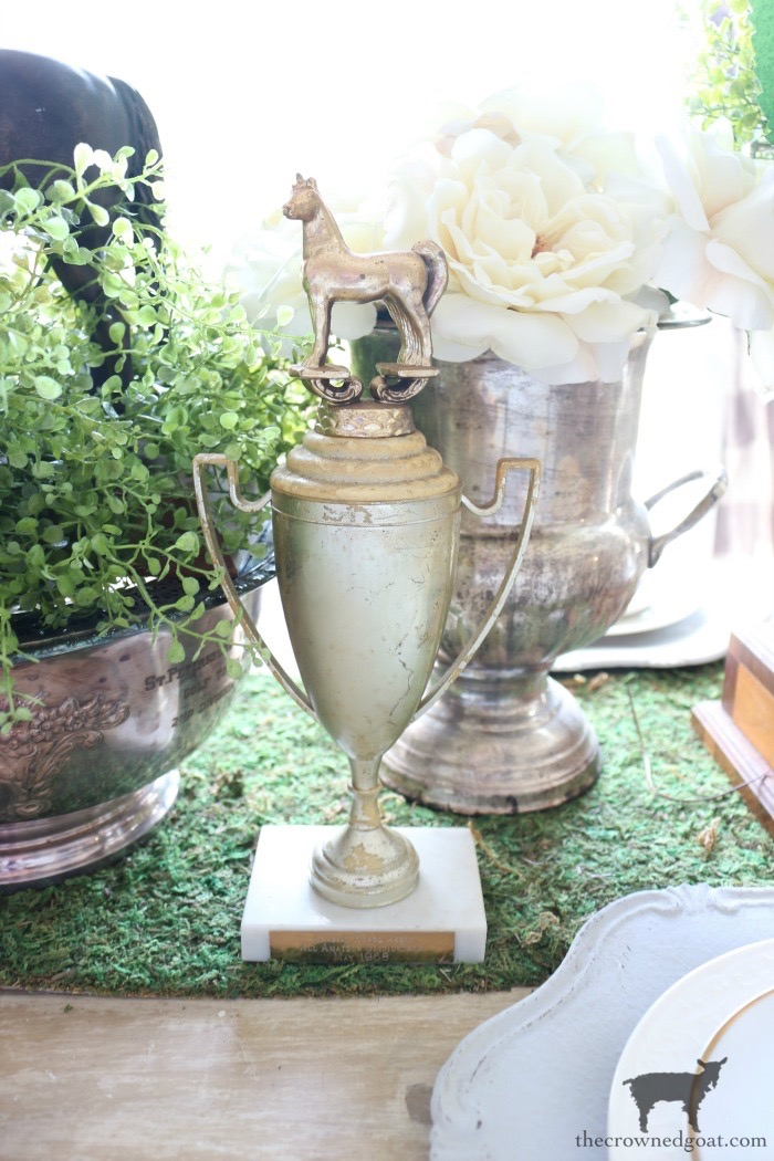 Kentucky-Derby-Tablescape-The-Crowned-Goat-9 How to Create a Vintage Trophy Finish Decorating DIY