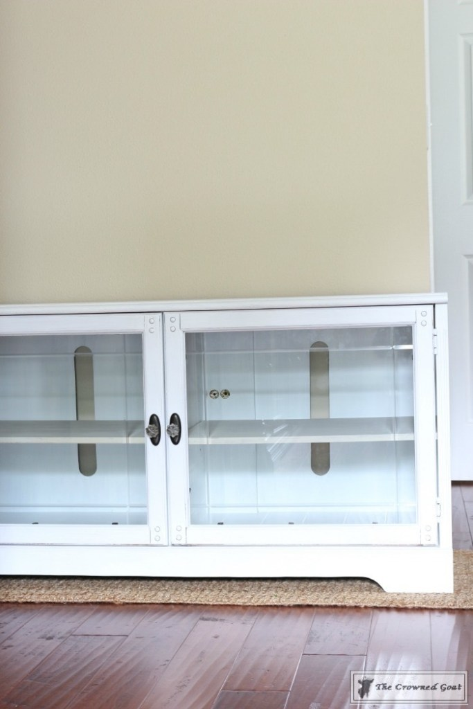 Snow-White-Media-Cabinet-Makeover-7-683x1024 Media Cabinet Makeover in GF Snow White Painted Furniture