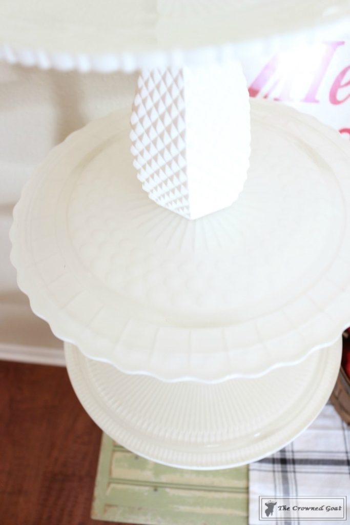 DIY-Faux-Milk-Glass-Cake-Stand-14-683x1024 How to Make a Faux Milk Glass Cake Stand Decorating DIY Fall