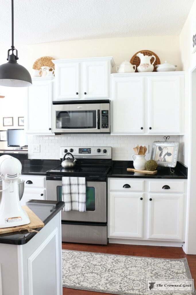 Farmhouse-Kitchen-Makeover-Reveal-5-683x1024 A Simple Cottage Kitchen Makeover: The Reveal Decorating DIY Painted Furniture