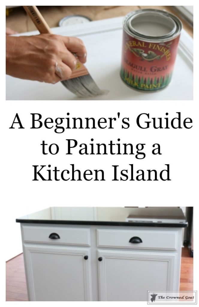 Seagull-Gray-Kitchen-Island-1-664x1024 A Beginners Guide to Painting a Kitchen Island DIY Painted Furniture