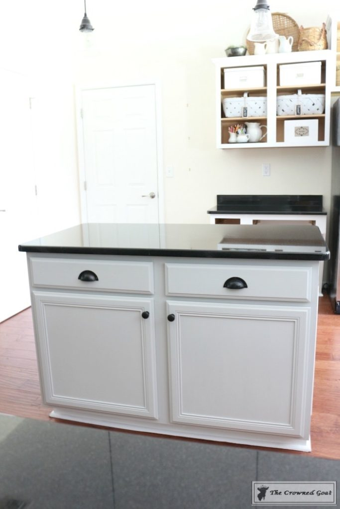 Seagull-Gray-Kitchen-Island-17-683x1024 A Beginners Guide to Painting a Kitchen Island DIY Painted Furniture