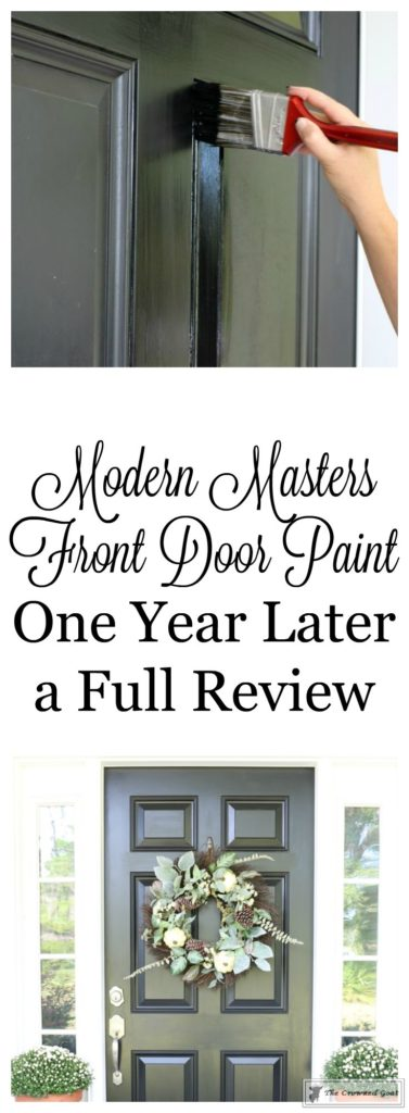Front-Door-Paint-Review-1-377x1024 Modern Masters Front Door Paint: One Year Later DIY