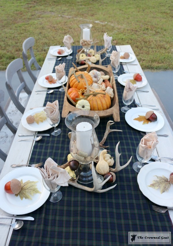 Outdoor-Fall-Tablescape-7 Outdoor Fall Tablescape Decorating DIY Fall Holidays