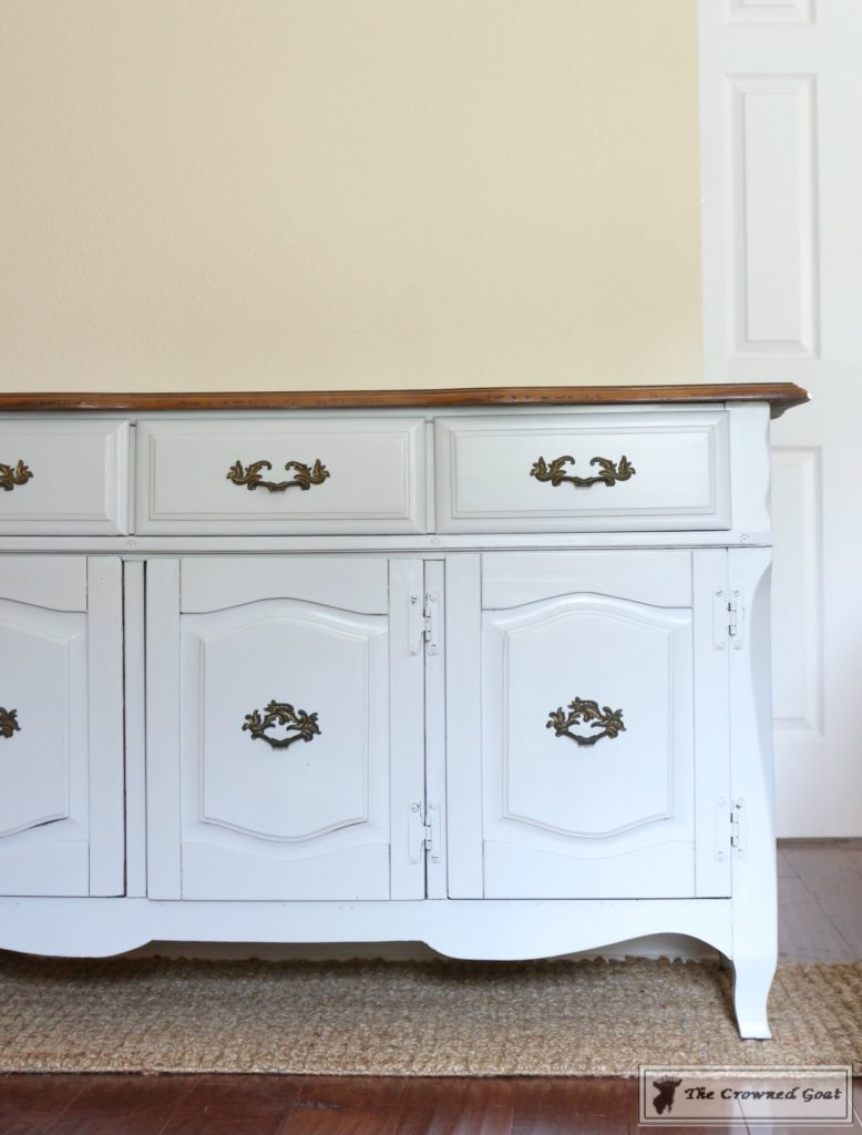 Sea-Gull-Gray-Buffet-Makeover-7-778x1024 Buffet Makeover in Sea Gull Gray DIY Painted Furniture