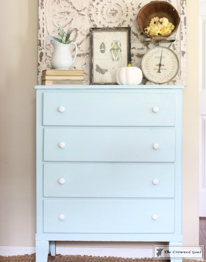 Seaglass-Dresser-Makeover-6 Coastal Dresser Makeover DIY Painted Furniture
