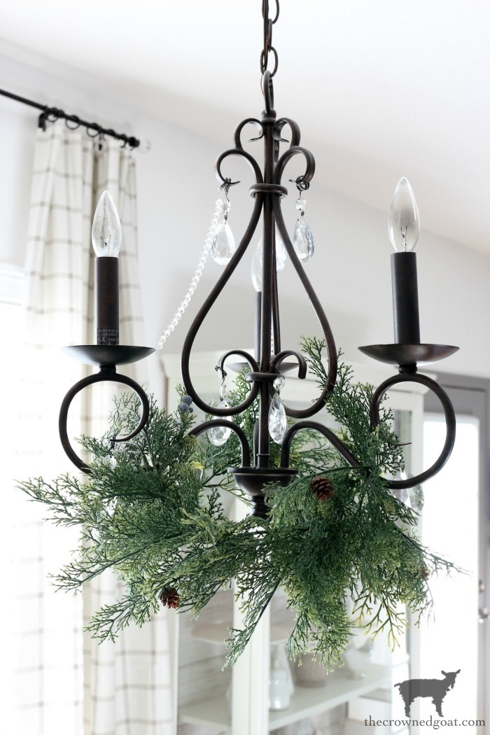 Adding-Holiday-Greenery-to-a-Chandelier-The-Crowned-Goat-15 Adding Holiday Greenery to Chandeliers Christmas DIY Holidays