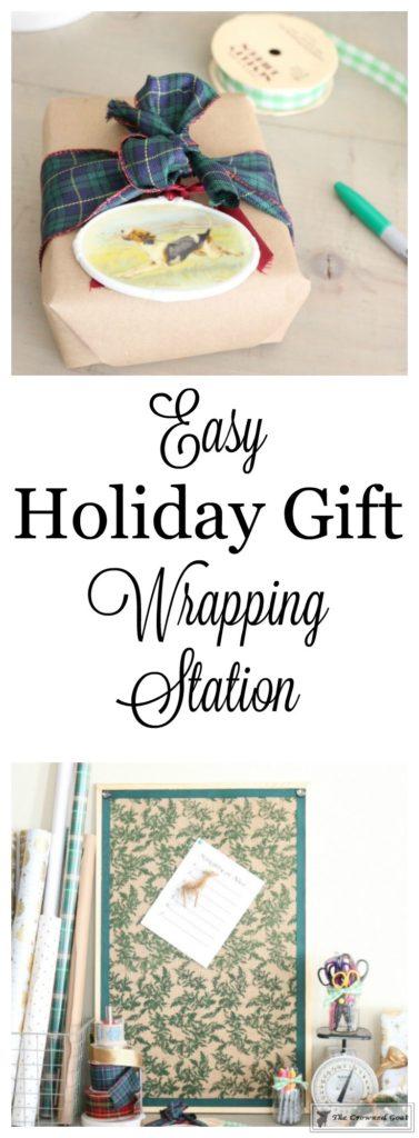 Holiday-Gift-Wrap-Station-1-377x1024 Holiday Gift Wrapping Station Christmas DIY Holidays
