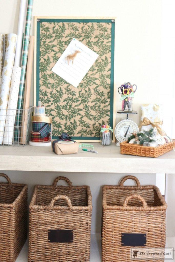 Holiday-Gift-Wrap-Station-9-683x1024 Holiday Gift Wrapping Station Christmas DIY Holidays