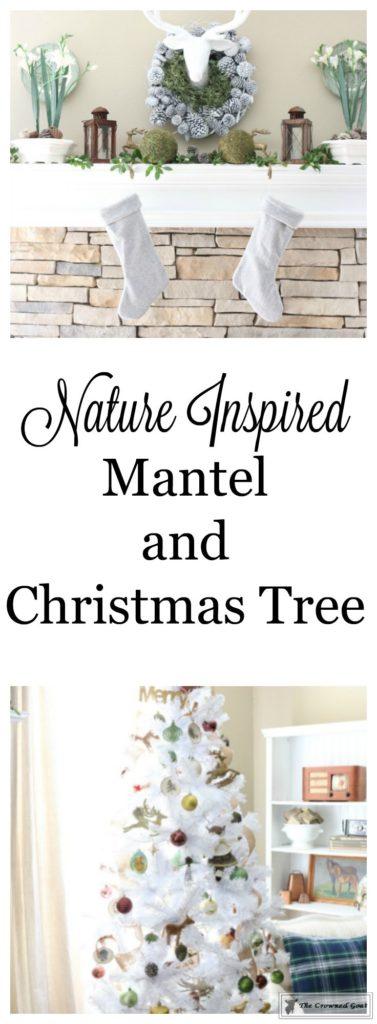 Nature-Inspired-Christmas-Mantel-19-377x1024 Nature Inspired Mantel and Christmas Tree Christmas Decorating DIY Holidays