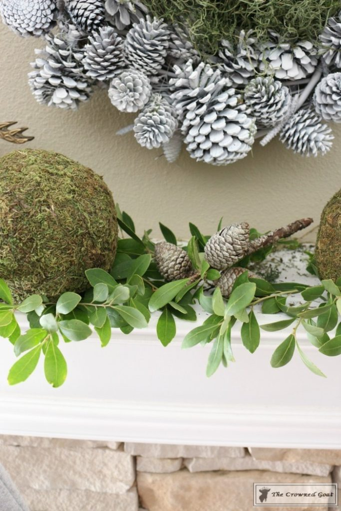 Nature-Inspired-Christmas-Mantel-5-683x1024 Nature Inspired Mantel and Christmas Tree Christmas Decorating DIY Holidays