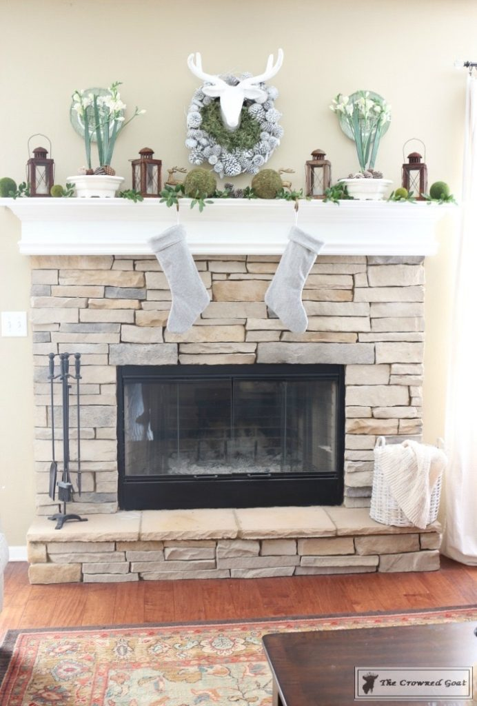 Nature-Inspired-Christmas-Mantel-9-1-692x1024 Nature Inspired Christmas Home Tour Christmas Decorating DIY Holidays