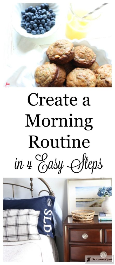 Create-a-Morning-Routine-in-4-Easy-Steps-3-443x1024 How to Create a Simple Morning Routine in 4 Easy Steps DIY Organization