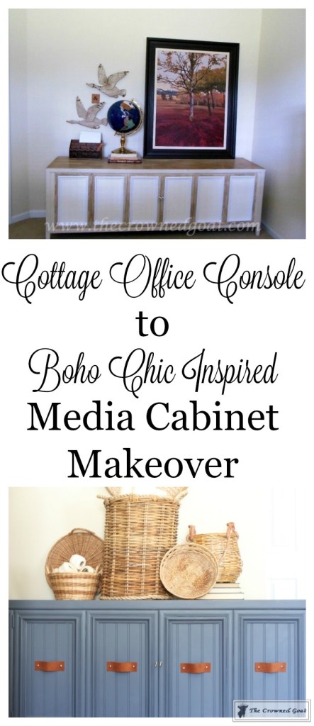 Cottage Console to Boho Chic Media Cabinet Makeover-2